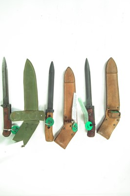 Lot 105 - Three Czech Vz58 bayonets and scabbards