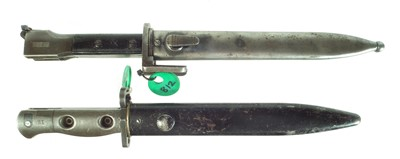 Lot 61 - Two bayonets and scabbards