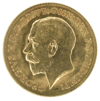 Lot 41 - King George V, Half-Sovereign, 1912 and two U.S. gold dollars, 1889.