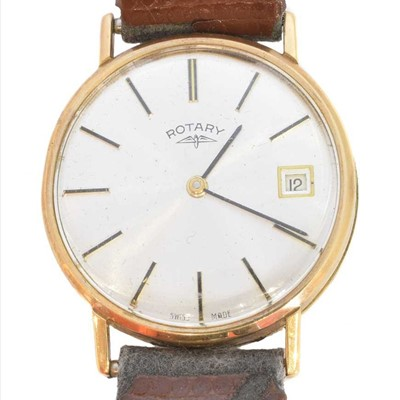 Lot 105 - A 1970s 9ct gold cased Rotary wristwatch