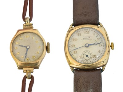Lot 106 - Two Tissot watches