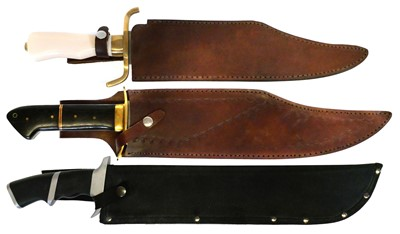 Lot 92 - Three 20th century bowie knives