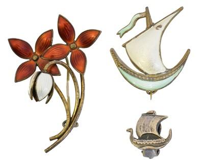 Lot 6 - A selection of Scandinavian silver jewellery