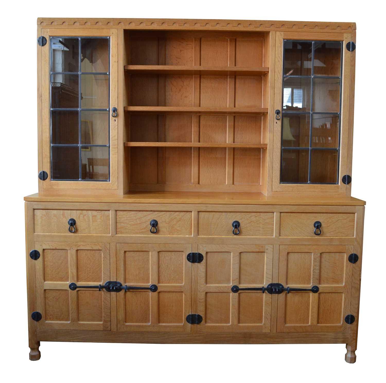 Lot Mouseman Oak Display Dresser
