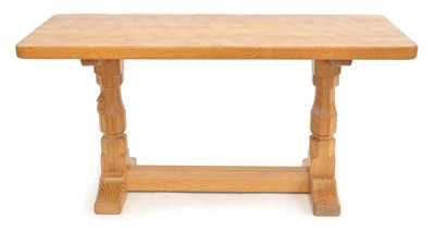 Lot Mouseman Adzed Refectory Coffee Table