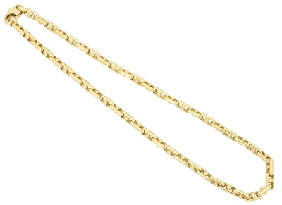 Lot 87 - An 18ct gold fancy link necklace