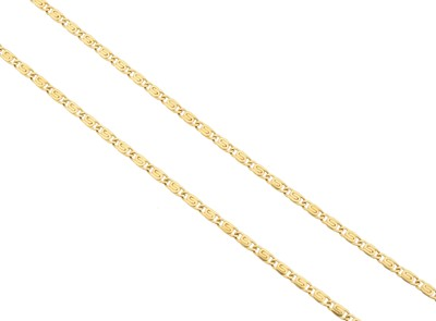 Lot 97 - An 18ct gold chain necklace