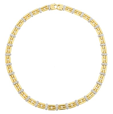 Lot 86 - An 18ct gold diamond necklace by Chimento