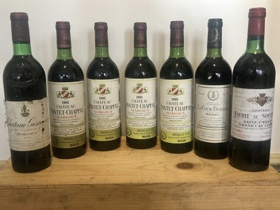 Lot 8 - 7 Bottles Mixed Lot Fine and Mature Claret, including Grand Cru Classse
