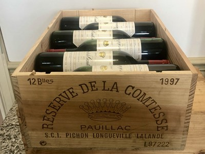 Lot 10 - 12 bottles Reserve De La Comtesse Pauillac 1997