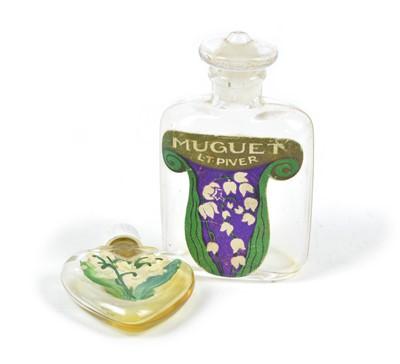 Lot 100 - Two early 20th Century Muguet Perfume Bottles