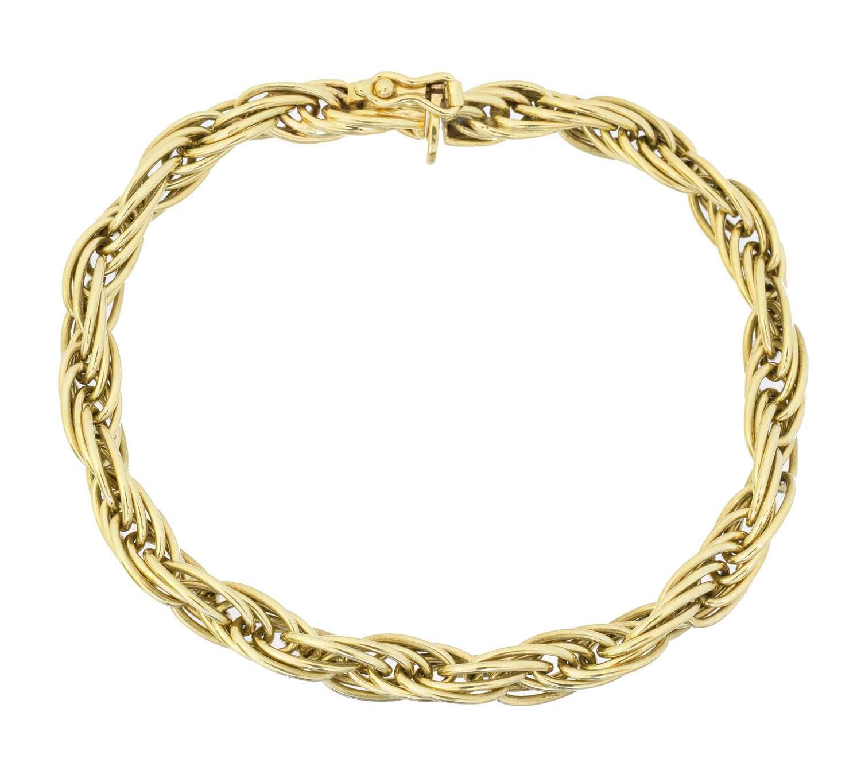 Lot 25 - An 18ct gold bracelet