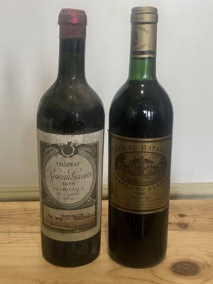 Lot 22 - 2 Bottles  Fine and Rare old Vintage Classified Growth Claret