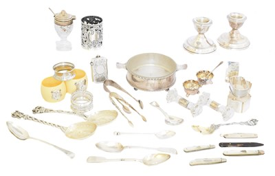 Lot 189 - A large selection of silver and white metal items