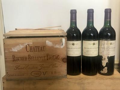 Lot 26 - 9 Bottles Chateau Rocher-Bellevue Figeac St Emilion Grand Cru 1988