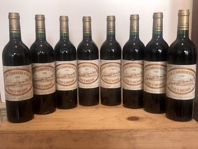 Lot 27 - 8 bottles (In OWC) Chateau Caronne Ste Gemme Haut Medoc 1998