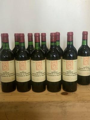 Lot 25 - 12 bottles (IN OCC) Chateau Macquin St Georges, St Georges St Emilion 1982