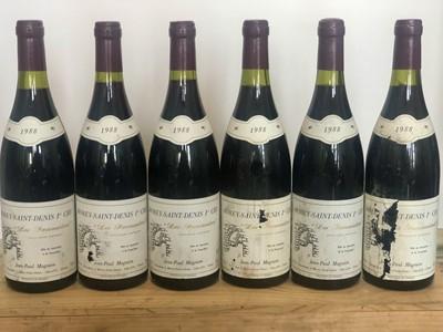 Lot 74 - 6 bottles Morey St Denis Premier Cru 'Les Faconnieres' Domaine Jean-Paul Magnien 1988