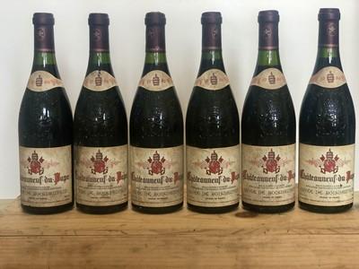 Lot 57 - 6 Bottles Chateauneuf du Pape 'Cuvee de Boisdauphin' Domaine Pierre Jacumin 1996