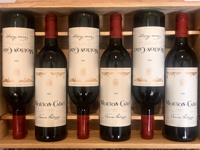 Lot 29 - 6 Bottles Baron Philippe de Rothschild 'Mouton Cadet' 1989
