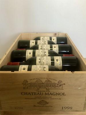 Lot 30 - 12 Bottles Chateau Magnol Cru Bourgeois Haut-Medoc 1998