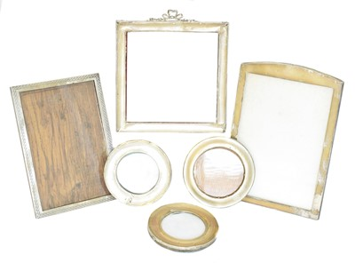 Lot 192 - A selection of early 20th century silver frames