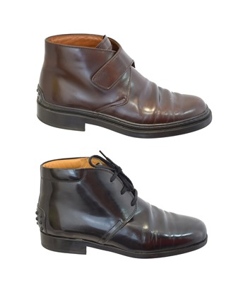 Lot 75 - Two pairs of boots by Tods