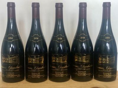 Lot 71 - 5 bottles Charmes Chamertin Grand Cru Domain Gerrad Quivy 2004