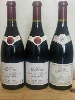 Lot 44 - 3 bottles mixed lot fine mature classic red burgundy from Domaine Bertagna