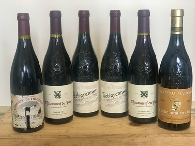Lot 56 - 6 Bottles Mixed Lot Fine Chateauneuf du Pape and Crozes Hermitage