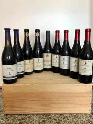 Lot 60 - 9 bottles mixed lot fine Italian wine from Piedmont