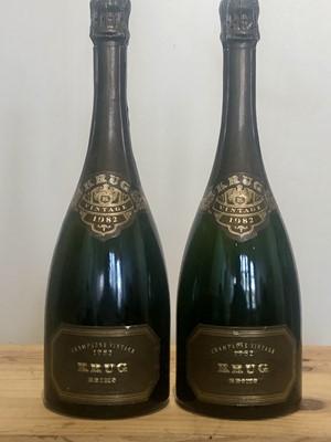 Lot 66 - 2 bottles Champagne Krug Vintage 1982
