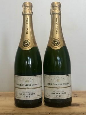 Lot 69 - 2 Bottles Champagne Duval-Leroy Epernay Vintage 1990