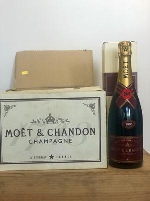 Lot 70 - 5 Bottles Champagne Moet et Chandon Rose Brut Imperial Vintage 1995