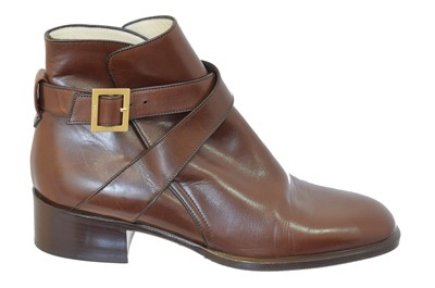 Lot 151 - A pair of leather ankle boots by Bally