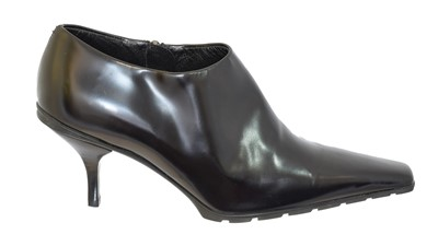 Lot 28 - A pair of heeled ankle boots by Prada