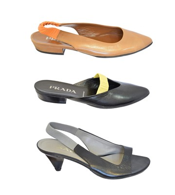 Lot 56 - Three pairs of Prada shoes