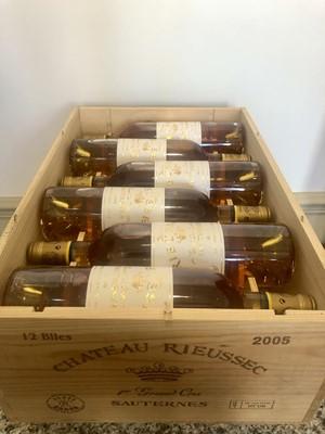 Lot 39 - 12 Bottles (in OWC) Chateau Rieussec Premier Grand Cru Classe Sauternes 2005