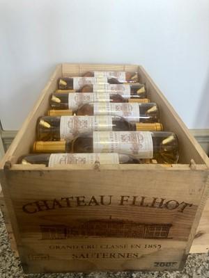 Lot 41 - 24 Half Bottles (in OWC) Chateau Filhot Grand Cru Classe Sauternes 2005