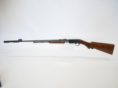 Lot Browning .22lr pump action rifle with moderator LICENCE REQUIRED