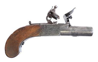 Lot 229 - Flintlock pocket pistol