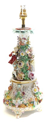 Lot 237 - Carl Thieme table centre converted to a lamp
