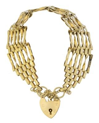 Lot 10 - A 9ct gold bracelet