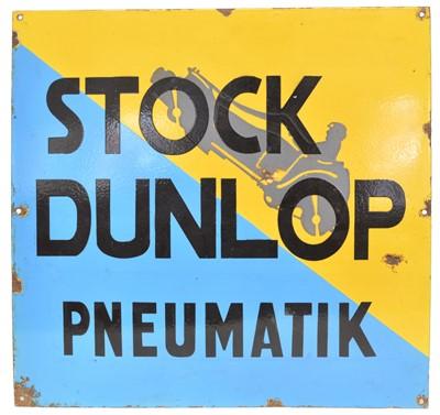 Lot 71 - Dunlop Enamel Sign