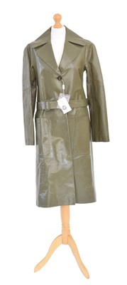 Lot 143 - A leather trench coat by Ferragamo