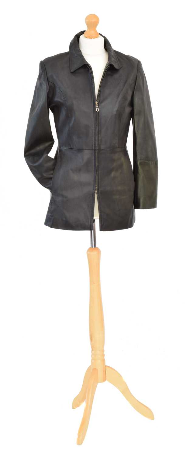 Lot 74 - A Burberry leather jacket