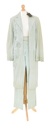 Lot 43 - A Mulberry coat and trousers