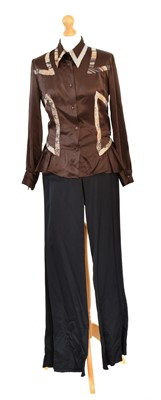 Lot 102 - A Just Cavalli silk shirt and pair of trousers