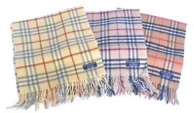 Lot 1 - Three Burberry wool scarves