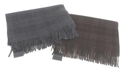 Lot Two Burberry cashmere wool scarves